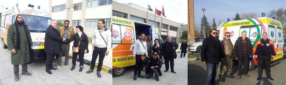 SOLIDARIETA': Donazione di un'ambulanza in Siria