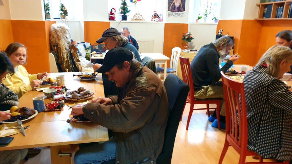 Cena di Natale per i senzatetto di Dresden